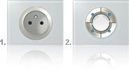 Interrupteur scénario associé à une prise de courant pour économiser de l'énergie